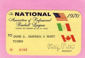 1970 NAPBL Carlton Fisk Age 22/12 HR Ticket Pass Minors Rich Gossage Age 18/42K