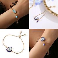 Evil Adjust Eye Rhinestone Crystal Bracelet Gold Chain Bangle Anklet Jewellery