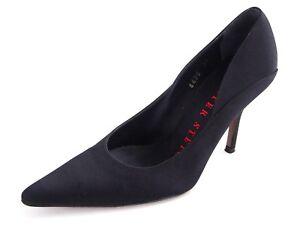Walter Steiger High Heel Pumps Black Satin Womens Size US 4.5 EU 35 $760