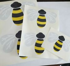 ** NEW - SET OF 5 - BEE/WASP - DECAL STICKERS - CAR WALL ETC **