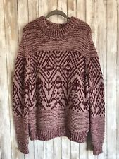$240 ESSENTIEL ANTWERP Pink Wool Alpaca Chunky Knit Sweater ITALY L Large ANTHRO