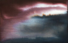 "SFA Original Art 4x6"" Abstract Storm Cloud Landscape Fantasy Painting SMcNeill"