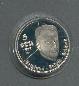 5 ECU  Belgien  50 Jahre UNO  König Albert II.  Silber  1995
