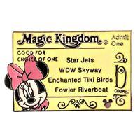 Disney Hidden Mickey Magic Kingdom Ticket D Minnie Mouse Disney Pin 2007