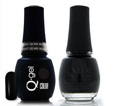 Gel & Polish QRS Beauty Combo MAT440 Midnight Black Color
