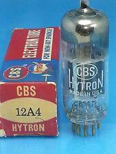 CBS HYTRON 12A4 VACUUM TUBE NOS NIB 1954 BLACK PLATE D GTR  Röhre Valve SINGLE