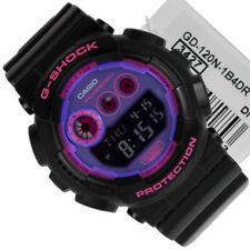 Casio Mens G-Shock Big Case Black & Purple Unisex Watch GD120N-1B4CR