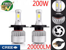 CREE LED Phare Kit 200W 20000LM Ampoule Lampe H4 H7 H11 H1 Headlight 6000K Blanc