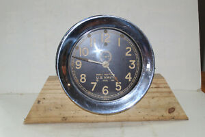 Vintage US Navy Mark 1 Deck Clock, Chelsea