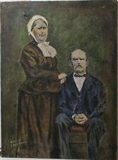 Peintures du XXe siècle et contemporaines huile signé portrait, autoportrait