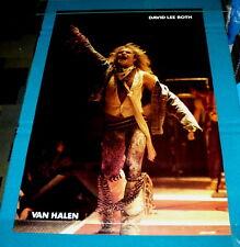 Vintage/New! David Lee Roth of Van Halen circa Diver Down on stage Poster @ 1983