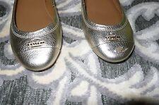 New sz 5.5 B  shoes Women COACH Chelsea gold flat ballerina