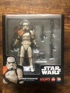 Star Wars Mafex SandTrooper in scale to S H Figuarts Black Series  Stormtrooper