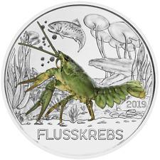 3€ Tiertaler 2019 DER FLUSSKREBS Münze Österreich