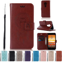 Flip Wallet Leather Card Case Protective Cover Stand for Motorola Moto E5 Play