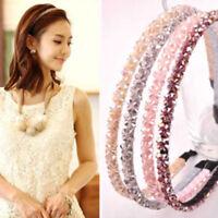Women Girl Metal Crystal Hairband Headband Beautiful Jewelry HeadwearHair Ban RA