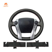 DIY Artificial Leather Steering Wheel Cover for Toyota Prius 30 (XW30) C V Aqua