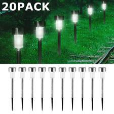 20Pcs Solar Garden LED Lights Outdoor Waterproof Landscape Lawn Pathway LED Lamp