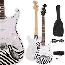 New ST-E 22-fret Rosewood Fingerboard Zebra Stripes Electric Guitar Set