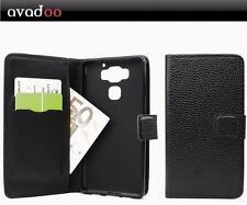 Avadoo ® Archos Diamond 2 Plus Case Pelle Nero Cucitura DUAL GUSCIO COVER