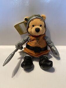 "Winnie the Pooh Mini Bean Bag Plush King Arthur Disney Store 8"" New With Tag"