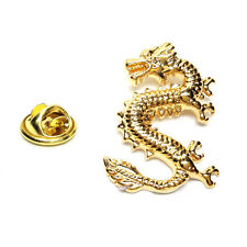 Golden Lucky Dragon Lapel Pin Badge Gifts For Him
