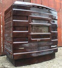 Vintage Antique French Cast Iron Enamel Chappee Art Deco Stove Wood Log Burning