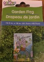 Garden Flag Welcome Floral Bicycle Butterfly Garden Decor New
