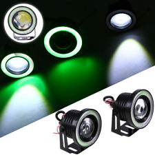 "3.5"" inch LED Fog Light Projector Driving Lamp COB Angel Eye Halo Ring Green"