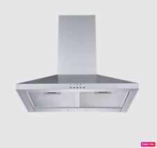 MIDEA Cucina Cappa a Parete camino 60 cm Aspirante Filtrante Acciaio Inox