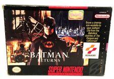 Batman Returns Complete SNES Super Nintendo Game & Box ONLY NO Manual