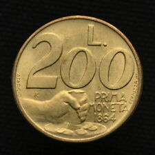 San Marino 200 Lire 1991, Commemorative Coin,  First currency - 1864, UNC, km268