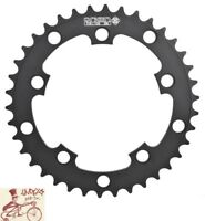 ORIGIN8 SINGLE SPEED 110/130mm 5-BOLT 38T BLACK ALLOY BICYCLE CHAINRING