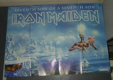 VINTAGE IRON MAIDEN POSTER SEVENTH SON PLAY WITH MADNESS DOUBLE SIDED