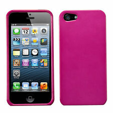 For Apple iPhone 5 5S SE HARD Protector Case Snap On Phone Cover Hot Pink