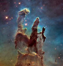 Pillars of Creation Eagle Nebula NASA Astronomy Space Giclee Canvas Print 32x34