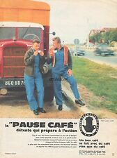Publicité La Pause Café  Camion BERLIET Truck Coffee  vintage photo  ad 1961 -4j