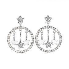 Orecchini Stroili in argento rodiato e cristalli con stelle ref. 1511641