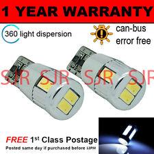 2x W5W T10 501 Canbus Nessun Errore Bianco 6 LED SMD LAMPADINE LUCI LATERALI