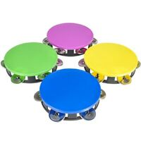"5.5"" Neon Tambourines (12 PACK) Colorful Party Favors, Party Instruments, Noise"