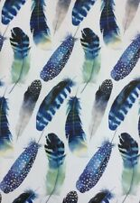 One Sheet - Feathers - Contemporary Gift Wrapping Paper, Craft Paper, Scrap Book
