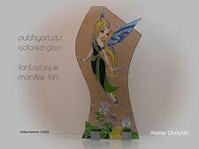 "Tiffany Glaskunst ""Glasstele fantastique monifee fan"" pubbyartists colored glass"