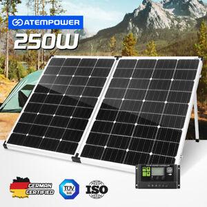 12V 250W Folding Solar Panel Kit Caravan Boat Camping Mono Battery Power