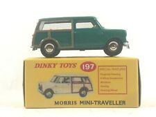 Collectors Atlas DINKY TOYS MORRIS MINI-TRAVELLER 197 Green/Tan *Mint Car in Box