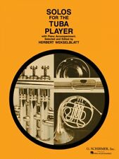 Solos for the Tuba Player Tuba in C B.C. and Piano Brass Solo NEW 050330510