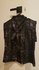 COUNTRY ROAD SILK BLACK TOP SIZE S - AS NEW