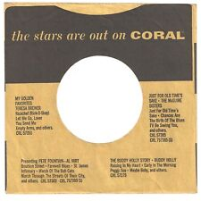 CORAL RECORDS - 45rpm company sleeve  (The Stars Are Out)  (a)