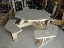 Octagon Picnic Table Handmade NEW