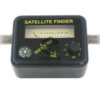 Satellite Signal Finder FTA DIRECTV Strength Meter Antenna Dish With COMPASS