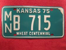 LICENSE PLATE Car Tag 1975 KANSAS MN B 715 [Z276]